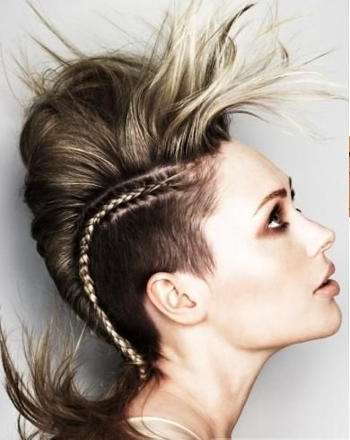 Best Punk Girl Hair Style Ideas on Last 2011  This is the best punk hairstyle ideas at the end of 2011. This hairstyles idea on last 2011 is brilliant because it combines punk hair styles with a uniq
