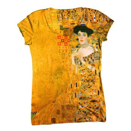 """I discovered an amazing series of artsy shirts, with famous prints!  As a future art teacher, I'd love to have some of these to wear to class.    Amazon.com: ArtsyClothingCo-""""Gustav Klimt 002"""" Art Womens Top - Classical - Romantic C-Neck T-Shirt Top: Clothing"""