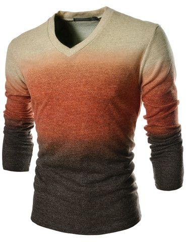Men's Long Sleeve Gradient Shirts – Tattee Boy Clothes