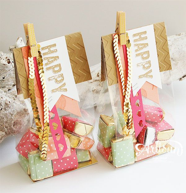 Birthday Surprise, 2013-2015 In Color DSP Papers Stack, Gold Foil, Banners Framelits,Hearts Border Punch -Inge Groot-