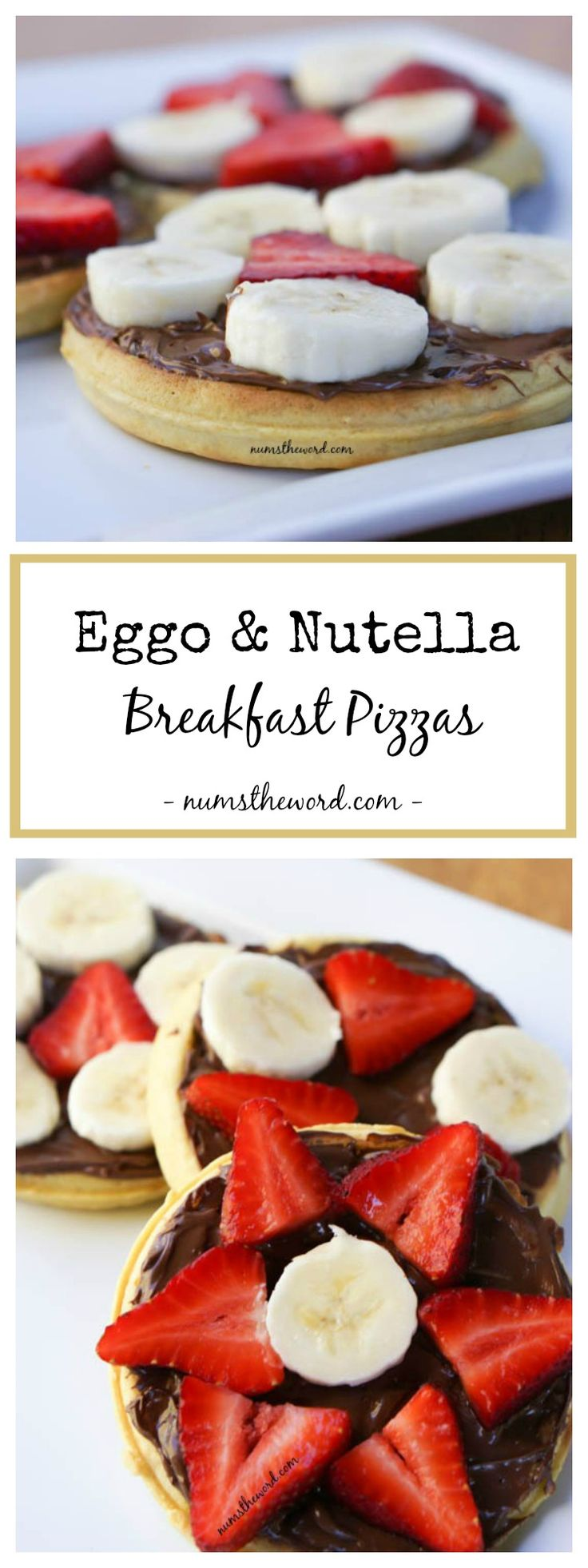 Eggo & Nutella Breakfast Pizzas are a quick 5 minute breakfast packed with flavor and able to hold you over.  Perfect for in the car to the office or school.  Morning breakfast never tasted so good!