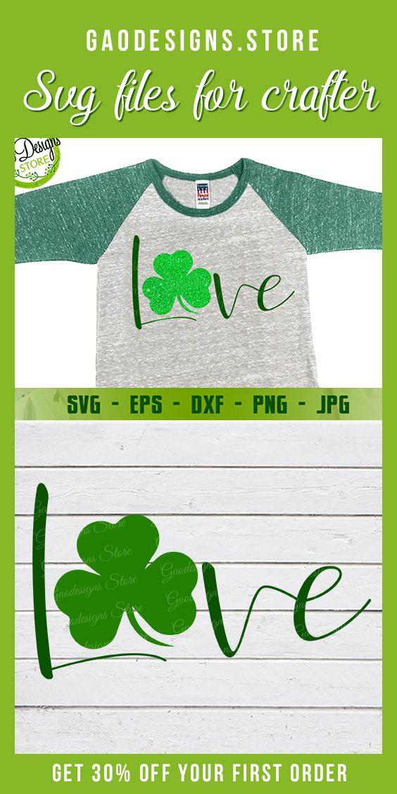 Download Love Shamrock svg, Shamrock Love svg, St. Patrick's Day ...