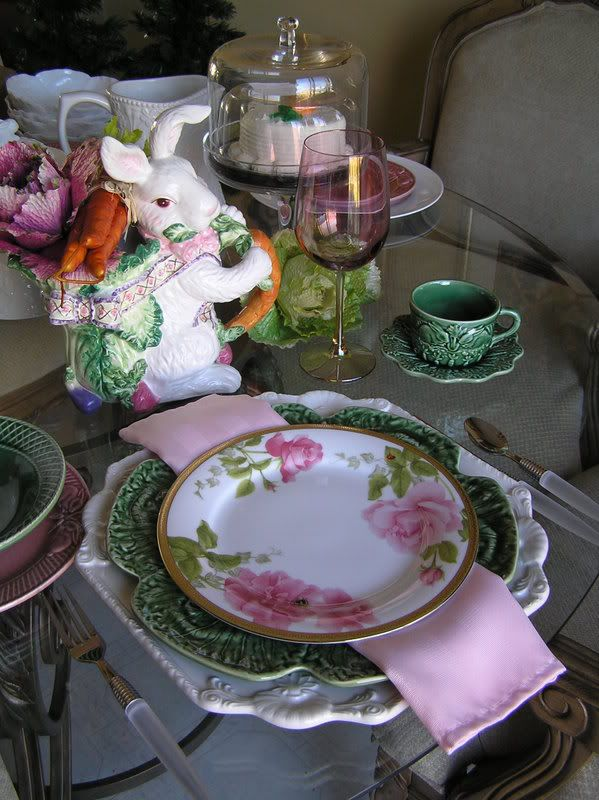 Do You Have Your Bunny For Your Easter Tablescape Green