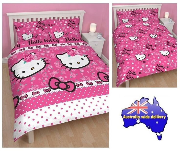 Hello Kitty Sommerwind Double Size Quilt Cover Set. Available at Kids Mega Mart online shop Australia www.kidsmegamart.com.au