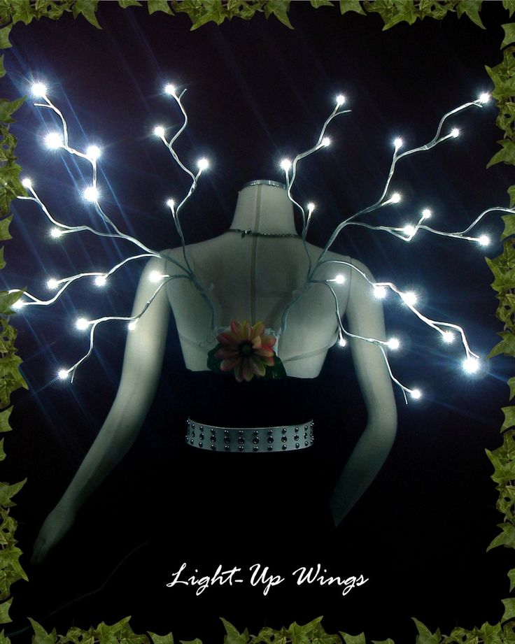 LED light-up Fairy Wings- White. $175.00, via Etsy.