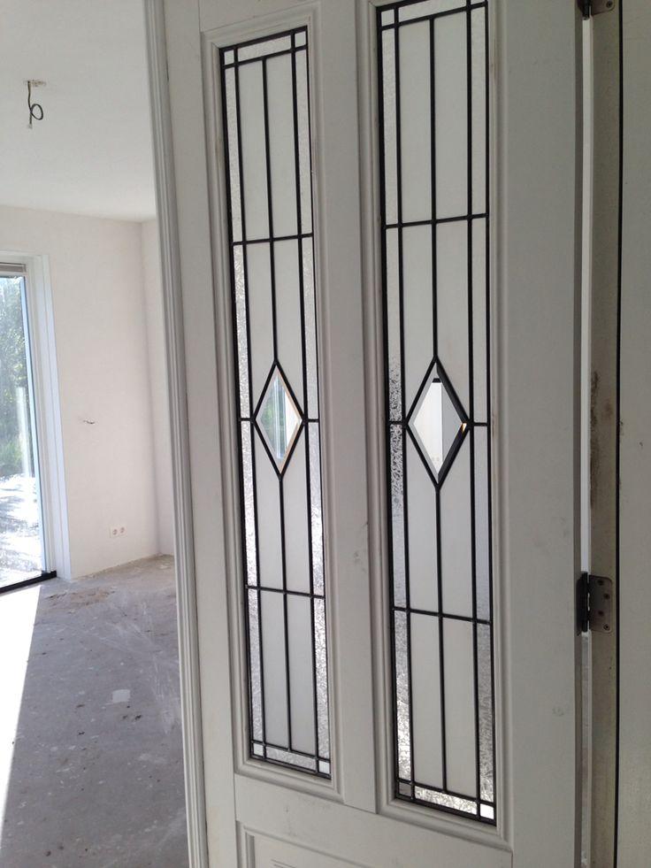Mooie glas in lood deuren benden