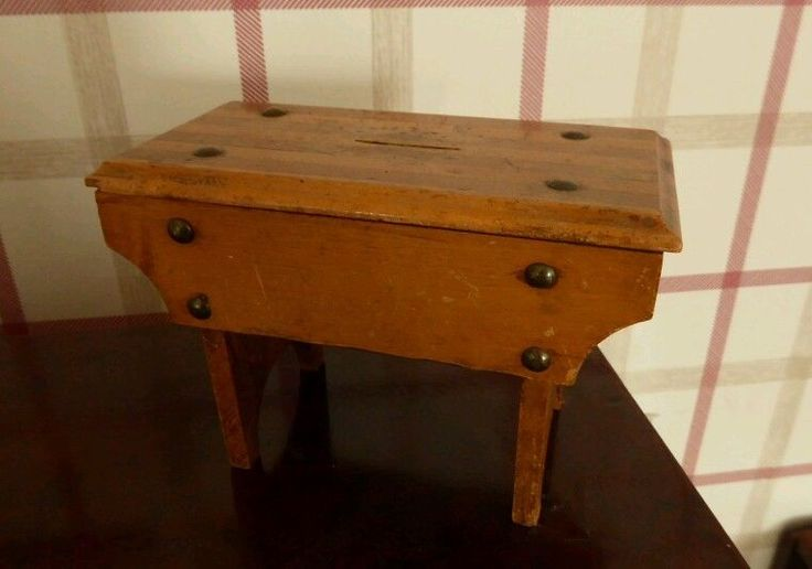 Vintage table money box. in Antiques, Woodenware, Treen | eBay