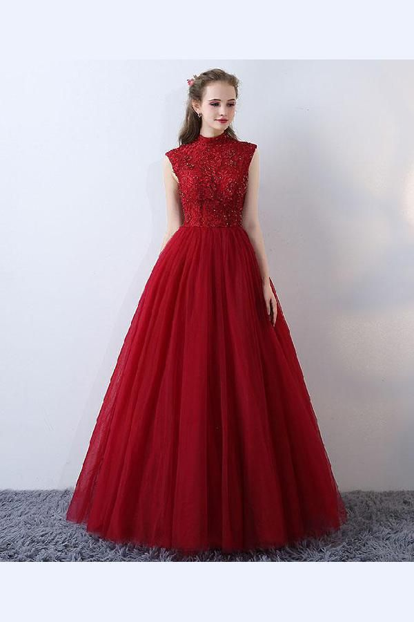 Custom Made Fetching Burgundy Prom Dresses 9797f9718