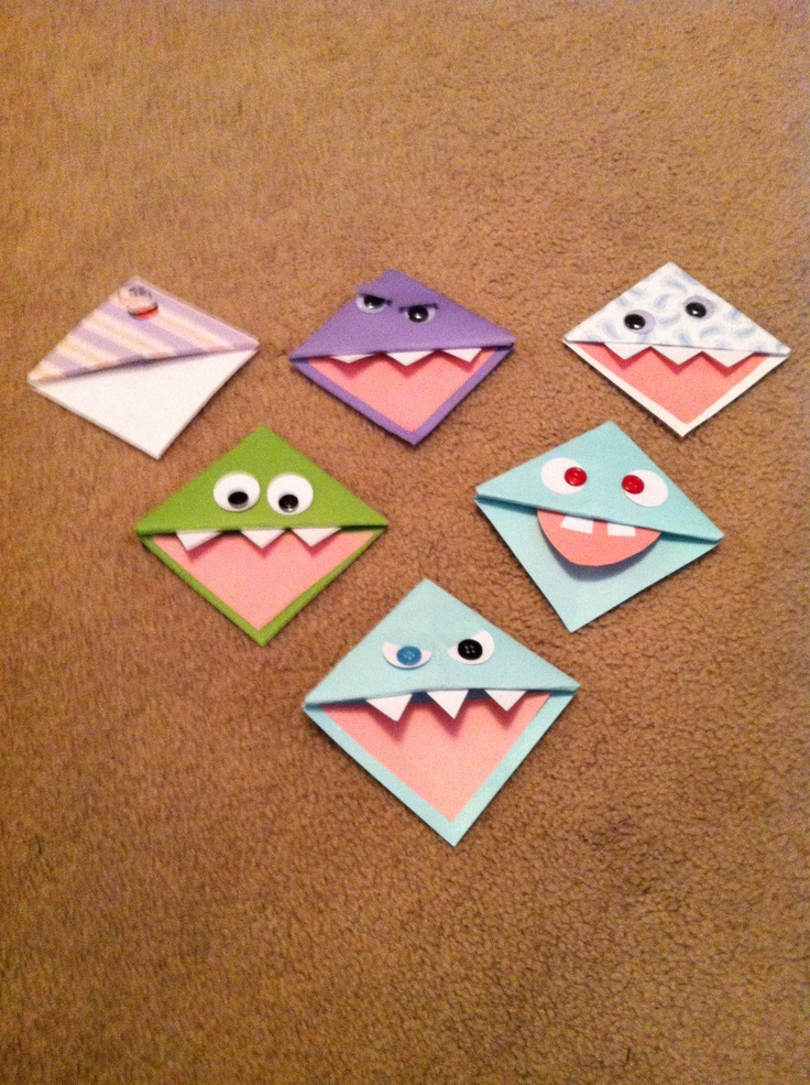 Cute bookmark idea and the kids loved