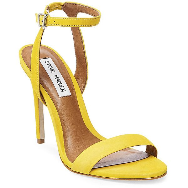 Steve Madden Women's Landen Stilettos Heels ($90) ❤ liked on Polyvore featuring shoes, pumps, heels, yellow nubuck, yellow shoes, sexy stilettos, yellow high heel shoes, steve madden pumps and steve-madden shoes