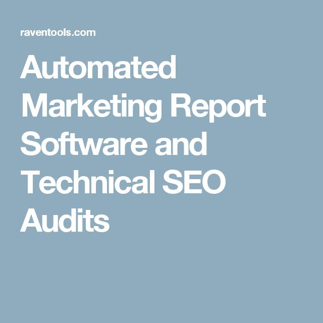 Automated Marketing Report Software And Technical Seo Audits