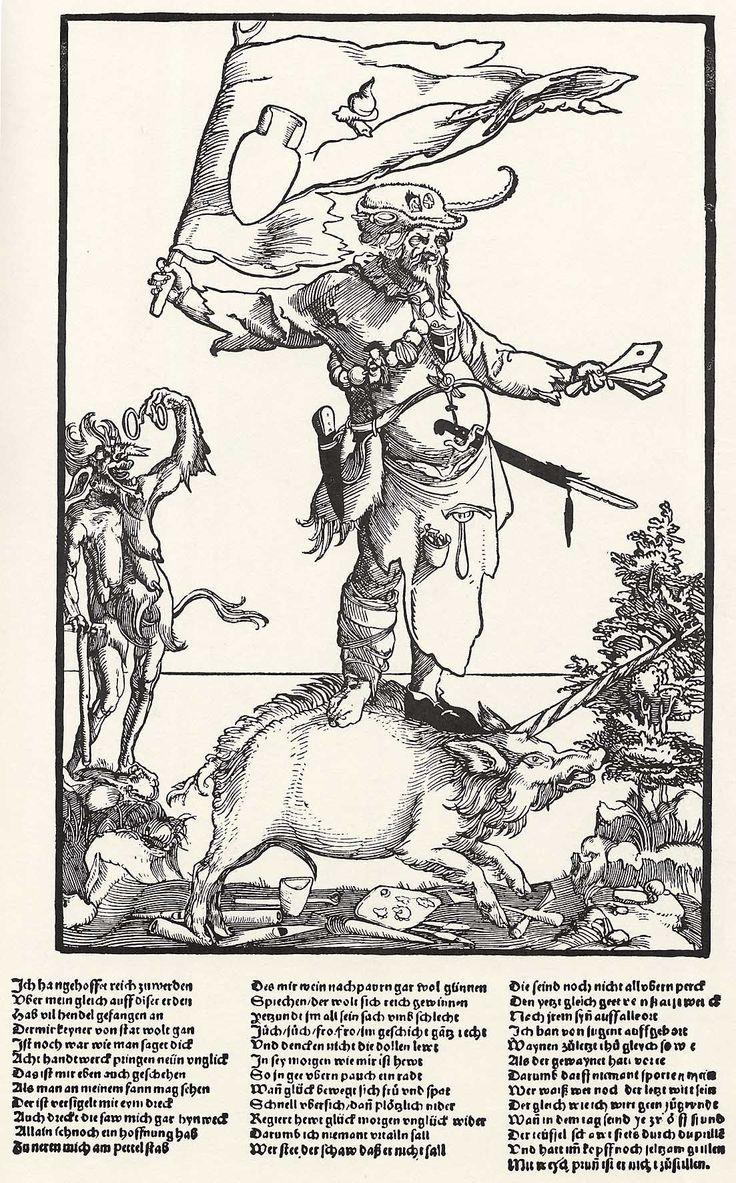 Artist: Flötner, Peter, Title: Klage des zugrunde gerichteten Handwerker, Date: ca. 1535