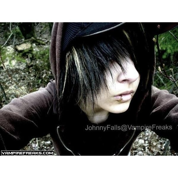 amazing unique hair / Emo Hairstyles: emo boys hairstyles - Emo Bucket ❤ liked on Polyvore