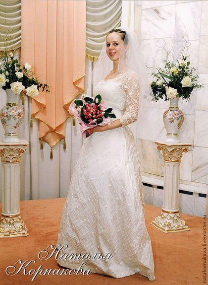 Одежда и аксессуары ручной работы. Ярмарка Мастеров - ручная работа. Купить Свадебное платье для будущей мамы. Handmade. Белый, ампир