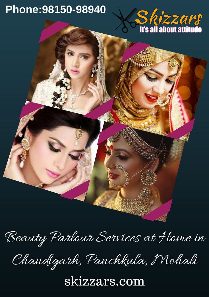 Are you looking for #Beauty #Parlour #services at #home in #Chandigarh, #Panchkula, #Mohali? Then you don't need to go here and there come to @skizzars who gives you all #salon services at home and also we offer 25% discount for #students and 30% discount for #corporates.