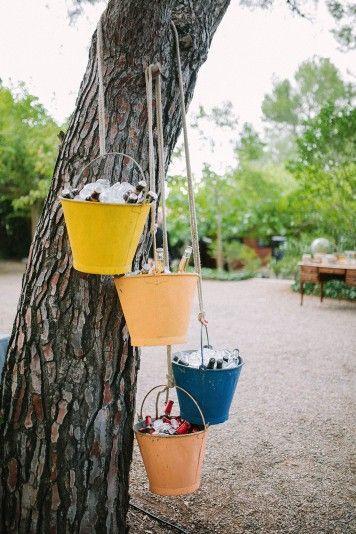 cubos cerveza decoración boda www.bodasdecuento.com