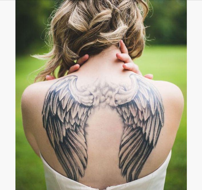 12 Angel Wings Tattoo Designs