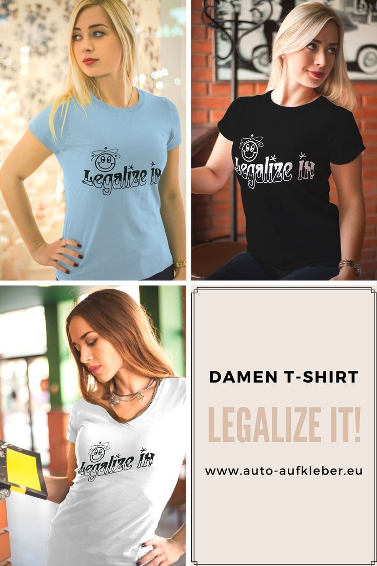 Coole Frauen Damen T Shirt Funshirt Legalize It Coole Und Lustige Damen T