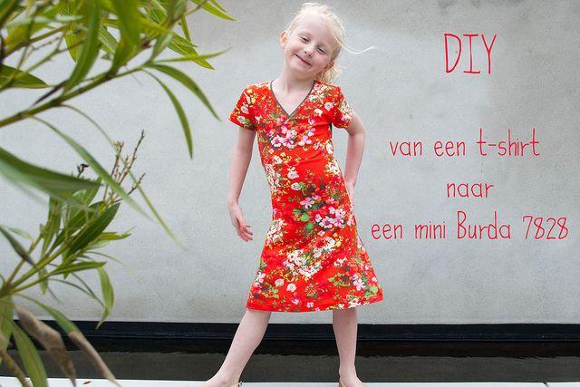 mina dotter: Van een t-shirt naar een mini Burda 7828