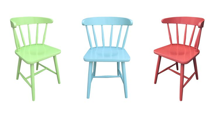 Scaun colorat Derby - scaune din lemn masiv de fag in stil colonial realizat de Mobirom Romania