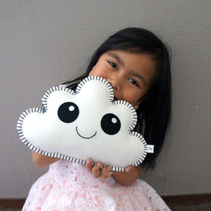 White Cloud Pillow Baby cloud pillow Cute Baby Gift by LilyRazz