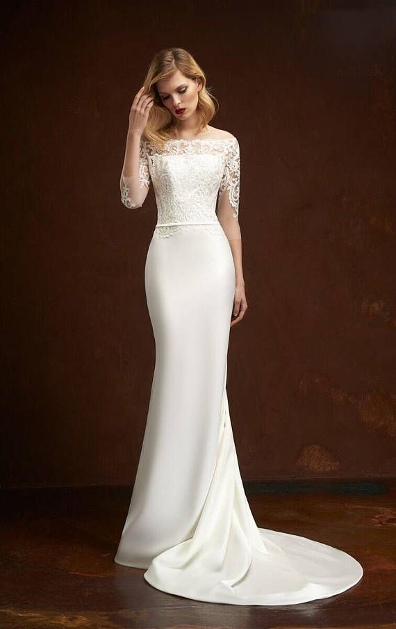1977d83313b88 White lace dress 2018 boho wedding dress lace beach bohemian custom dress  2018 rustic wedding lace dress long train lace bridal lace corset in 2019  ...