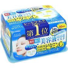 "COSMEPORT☀KOSE Japan-Clear Turn Essence Mask 30masks ""Vitamin C"""