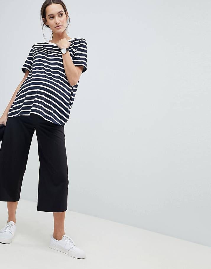 98ae908e336 ASOS DESIGN Maternity mix & match culotte with elasticated waist ...