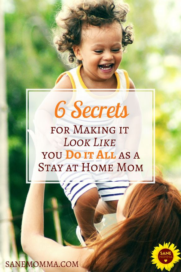 As stay at home moms we all know how hard it can be to get it all done. No matter how many time management tips we read or productivity hacks we try, there are still days when we just can't check off that to do list. And for those days, here are 6 Secrets for Making It Look Like You Do It All as a Stay at Home Mom! #timemanagement #Momlife #homemaker #SAHM #motherhood #Productivity @via https://www.pinterest.com/sanemomma