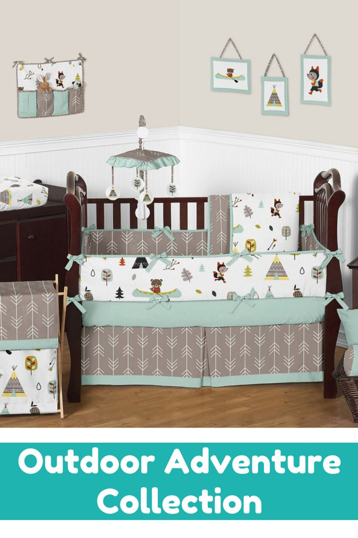 Gocrib adventure crib for sale - The Outdoor Adventure Baby Bedding Collection By Sweet Jojo Designs Will Add Instant Style To Your Nursery This Adventure Theme Designer Crib Bedding Set