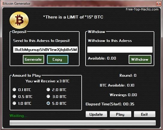The Bitcoin Generator - Generate Free BTC to Your Wallet ...