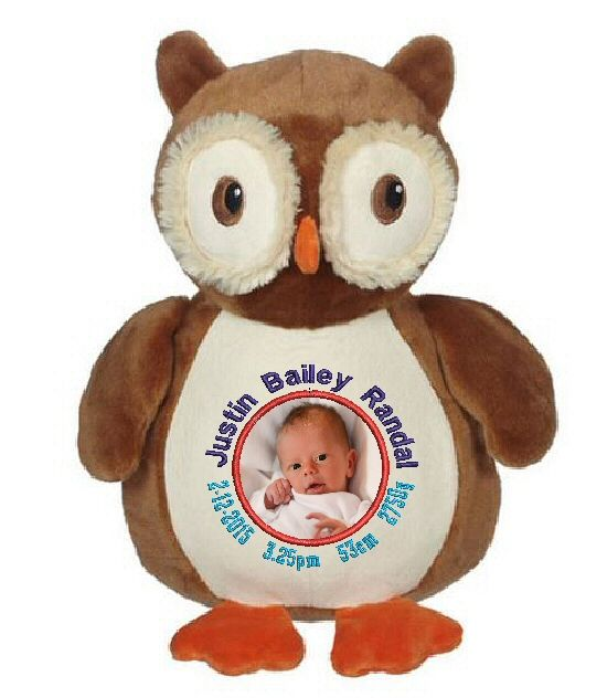 Hoot! Need something special. http://teddybearsandgifts.com.au/personalised-gifts-keepsakes/baby-to-toddler/birth-details-teddy-bears/