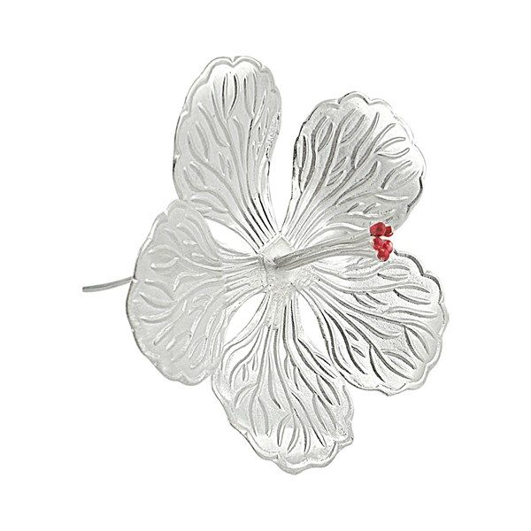 Jpearls Pure Silver Hibiscus Flower for Pooja