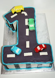 Car first birthday cake! Mine was a bit more humble, but same idea.