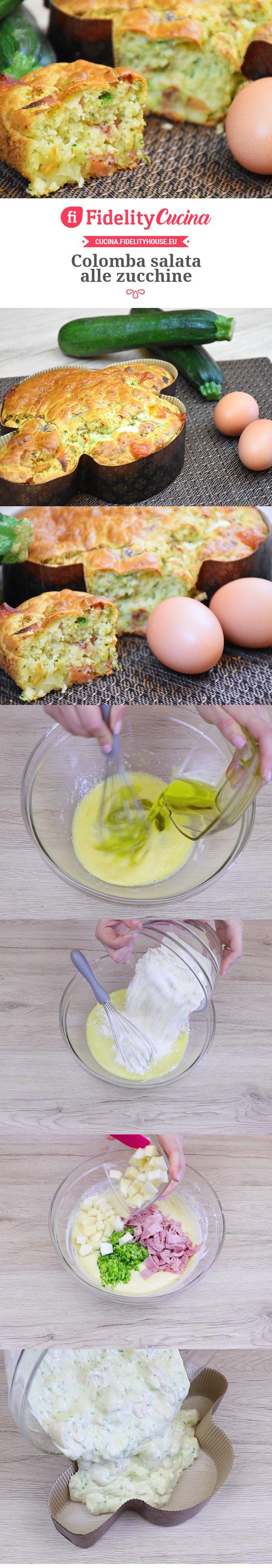 Colomba salata alle zucchine