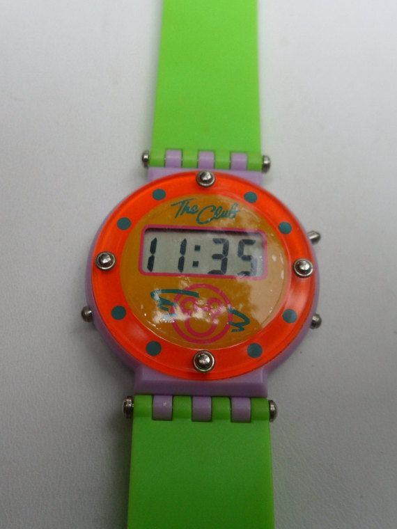 Mickey Mouse Club Digital Wrist Watch Soft Rubber by OldLadyWhite