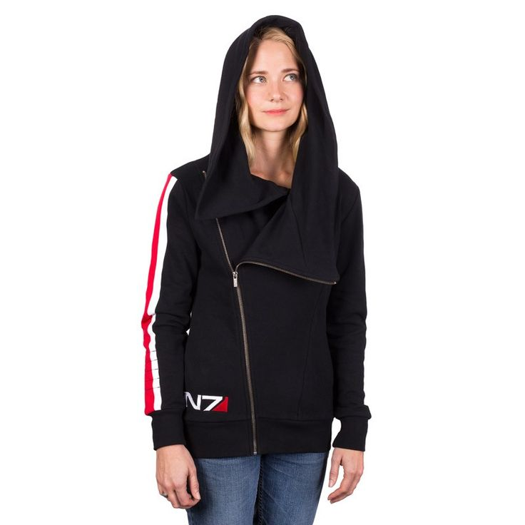 The BioWare Store - Ladies N7 Armour Stripe ANGL Hoody - Apparel  I'm also just a big fan of this style of hoodie. I love hoodies.