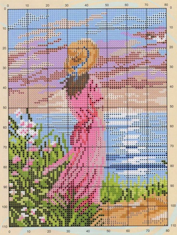 Todo crochet con Pilar: Lindos patrones para bordar punto cruz