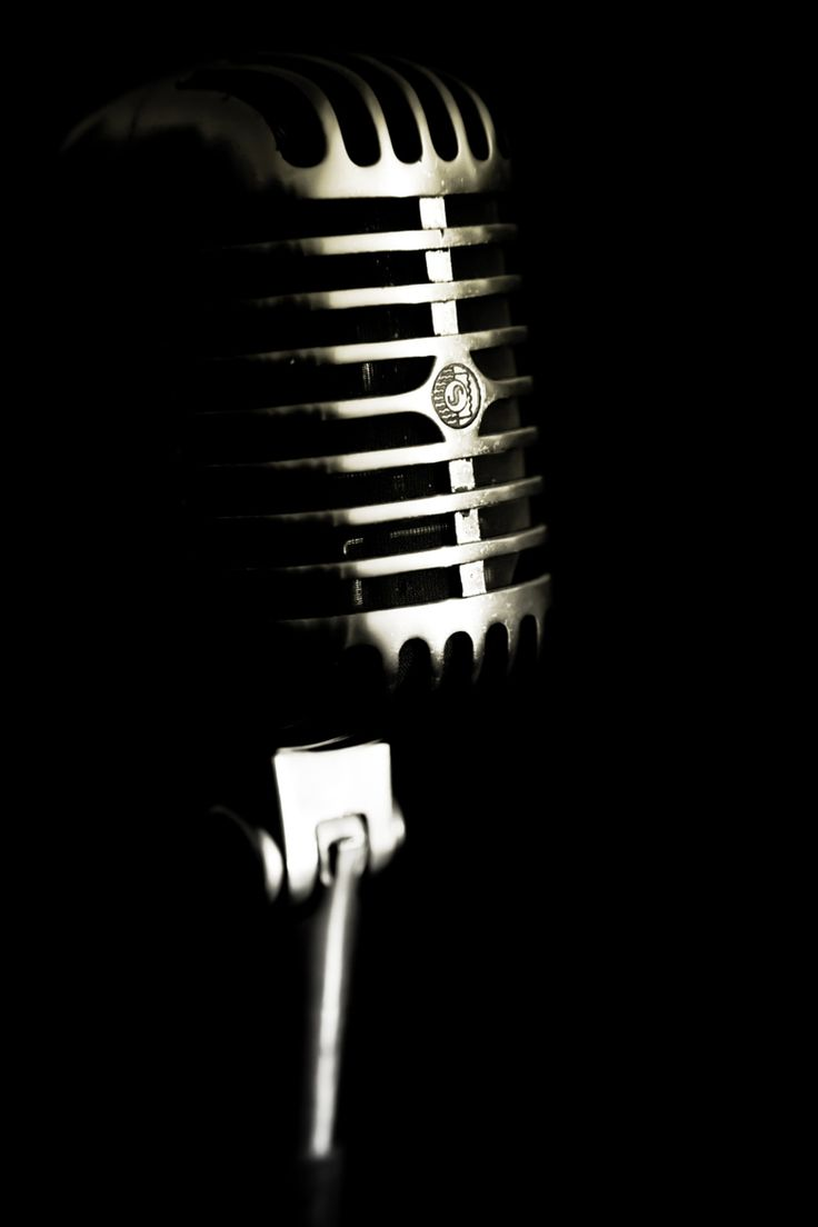 Photograph Dad's old microphone by Marie-Catherine O ... Vintage Microphone Black And White