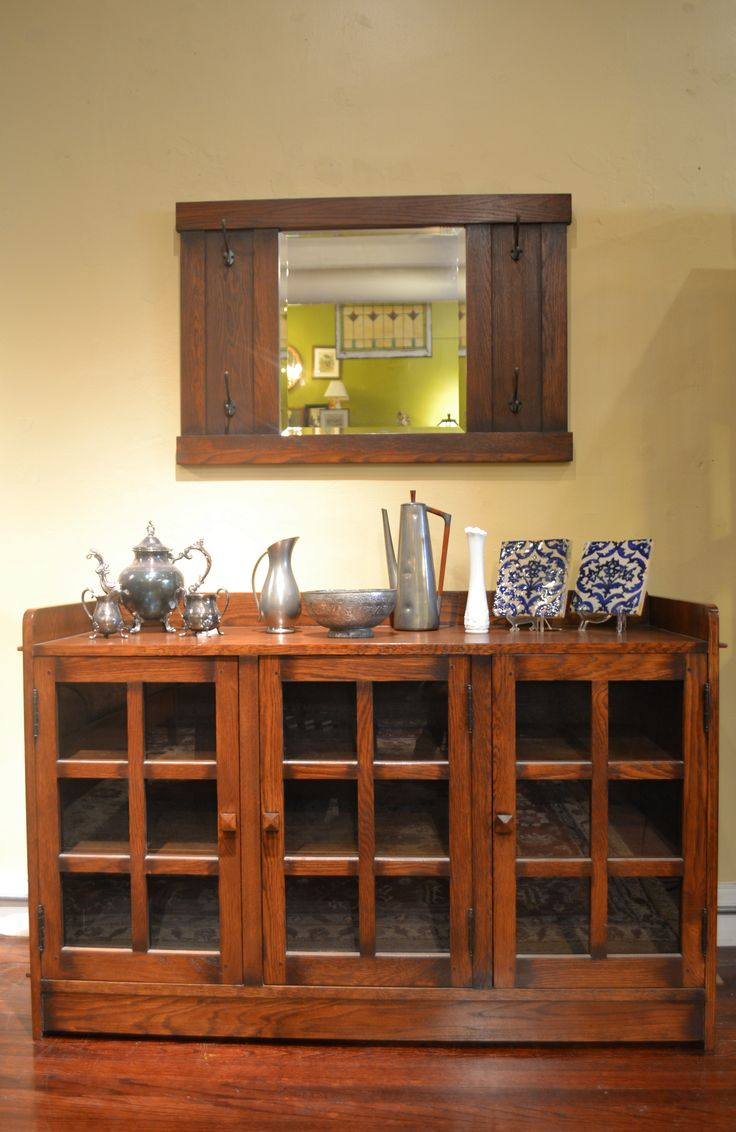 Arts and crafts style dining table - 3 Door Arts And Crafts Cabinet Mission Style Furnitureentry Tablesdining