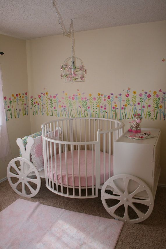 Carriage Crib Baby Girls Cinderella Room And Crib With