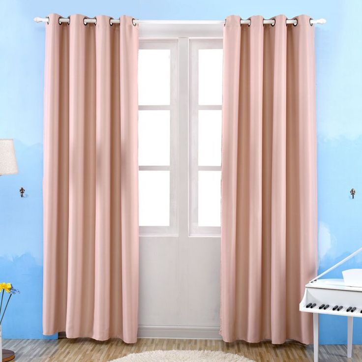 Bedroom Solid Curtains 3 Colors Blackout Thermal Window Curtain For Living Room Decor Newest  #Affiliate
