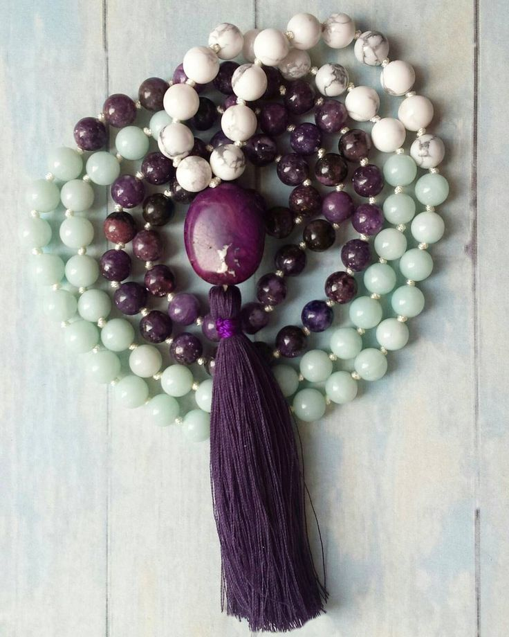 Shop update coming later this weekend! Got some pretty new malas to add to my collection and can't wait to see how you like them. This one here is the Serendipity Mala, made of white howlite, amazonite and gorgeous purple lepidolite. #mala #malanecklace #malabeads #cocoandlimeyoga #yogibeads #yogajewelry #yoga #108 #etsy #create #crafty #boho #hippie #gypsy #new #howlite #amazonite #lepidolite