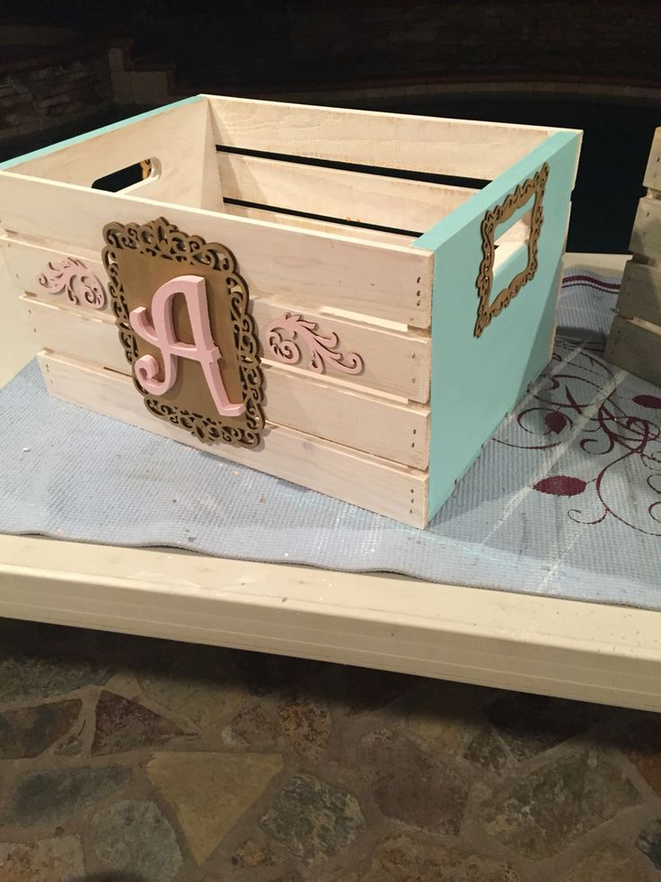 Every baby shower I make these now to fill with diapers and goodies! Ask for the theme or colors and makes the perfect crate for books, blankets, diapers, etc