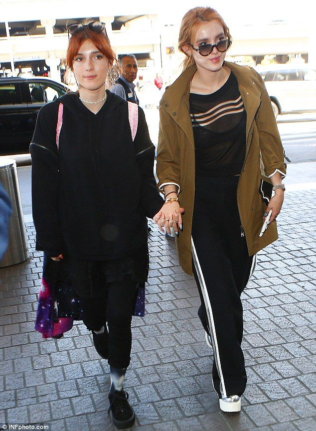 Sister, sister:Bella Thorne and Dani Thorne were attached at the hip as they caught a flight out of Los Angeles on Wednesday
