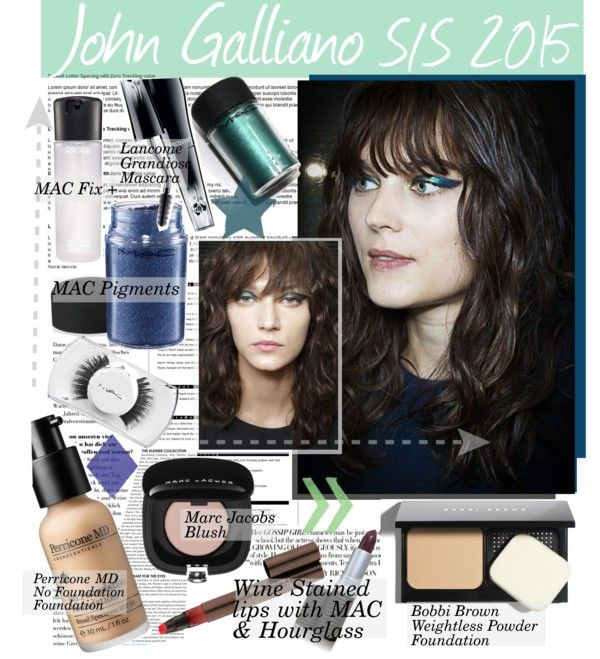 """""""Get the Runway LOOK:John Galliano S/S 2015"""" by bamaannie ❤ liked on Polyvore"""