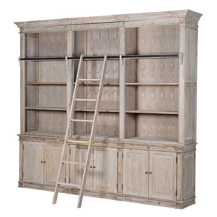 Extra Large Bookcase With Ladder