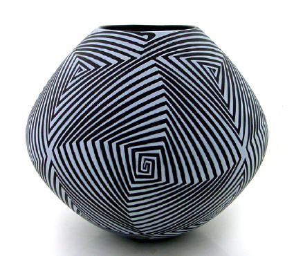 Mata Ortiz Pottery Pilo Mora Op Art
