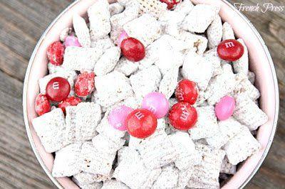 Chocolate Raspberry Puppy Chow