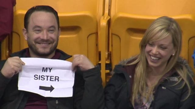 Best Kiss Cam Reaction